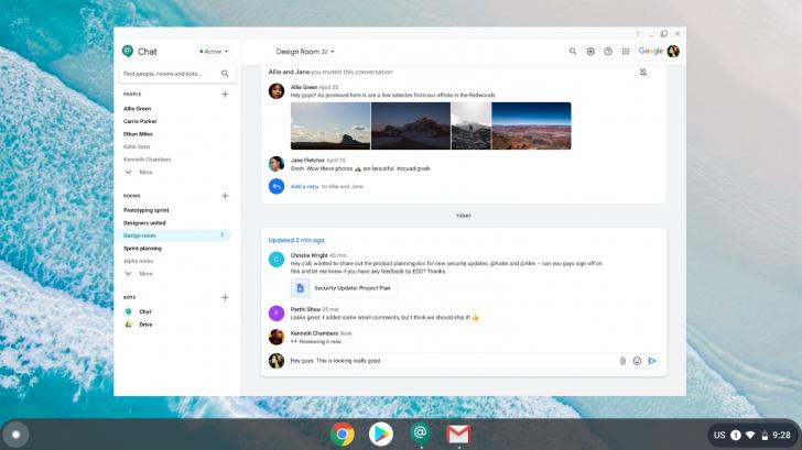 Google chat désormais proposé sur desktop grâce à une PWA
