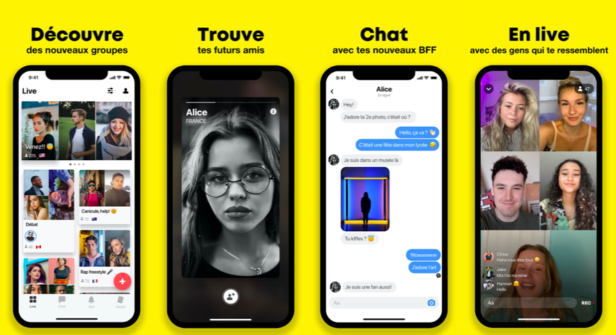 Yubo, l'application sociale française aux 40 millions d'utilisateurs lève ... 40 millions d'euros