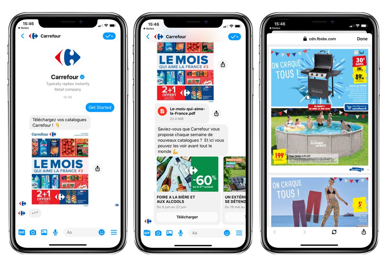 1 million de consultations du catalogue Carrefour sur Messenger et WhatsApp