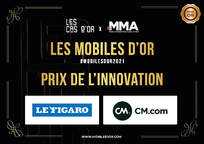 Mobiles d'Or : CM.com et Le Figaro remportent le prix de l'Innovation !