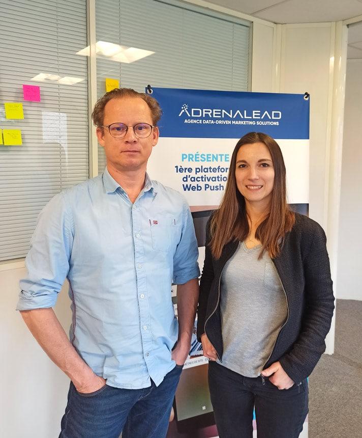 Edouard Ducray et Aurore Goxe les deux fondateurs d'Adrenalead