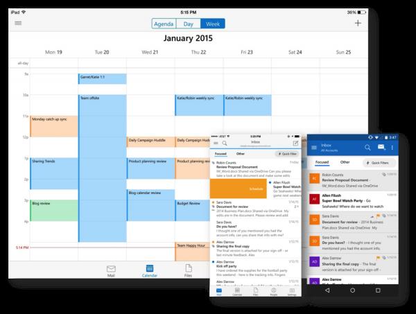 Microsoft lance l'application Outlook sur iOS et Android