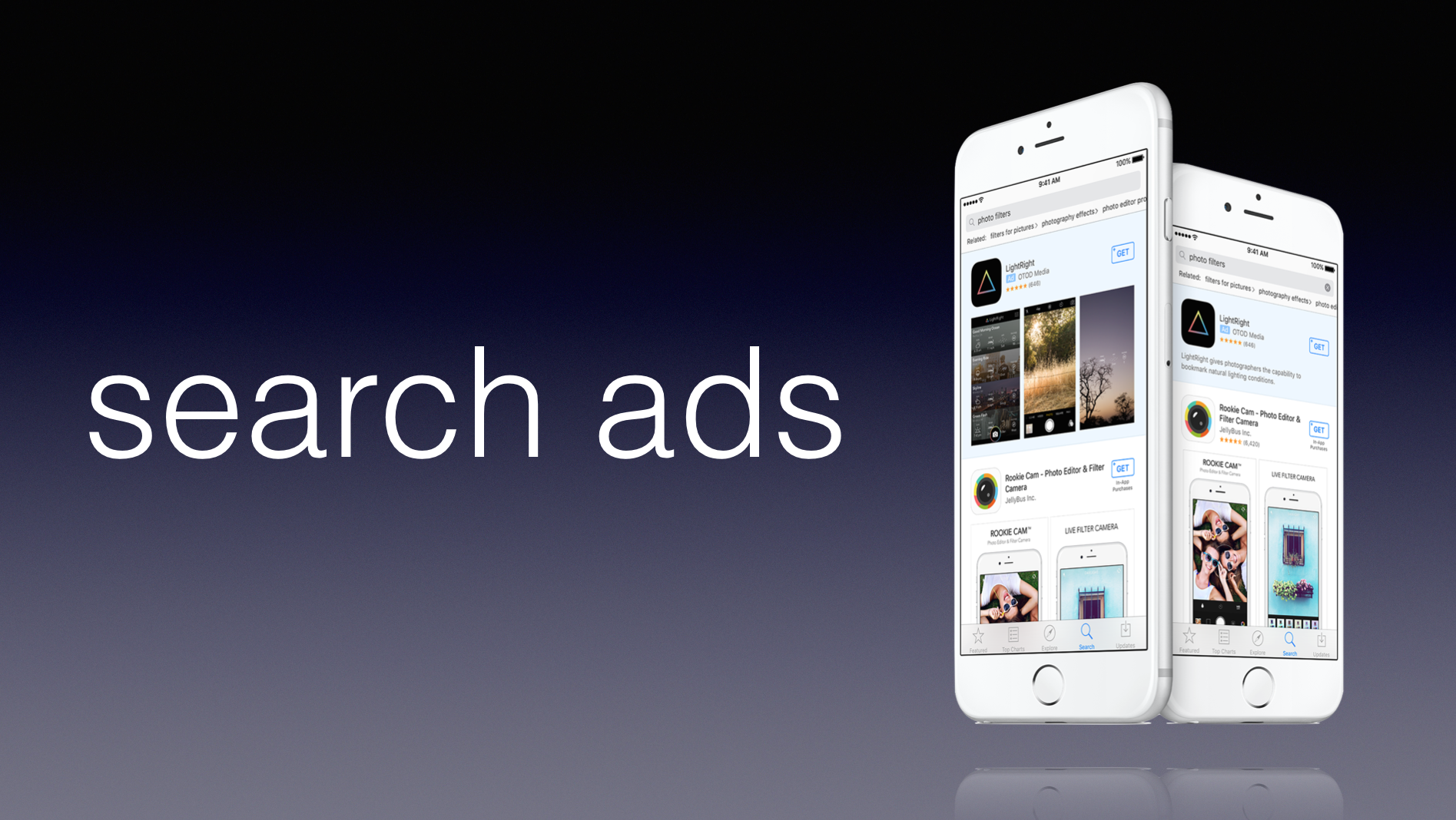 Abonnements et Search Ads pour le nouvel App Store d'Apple
