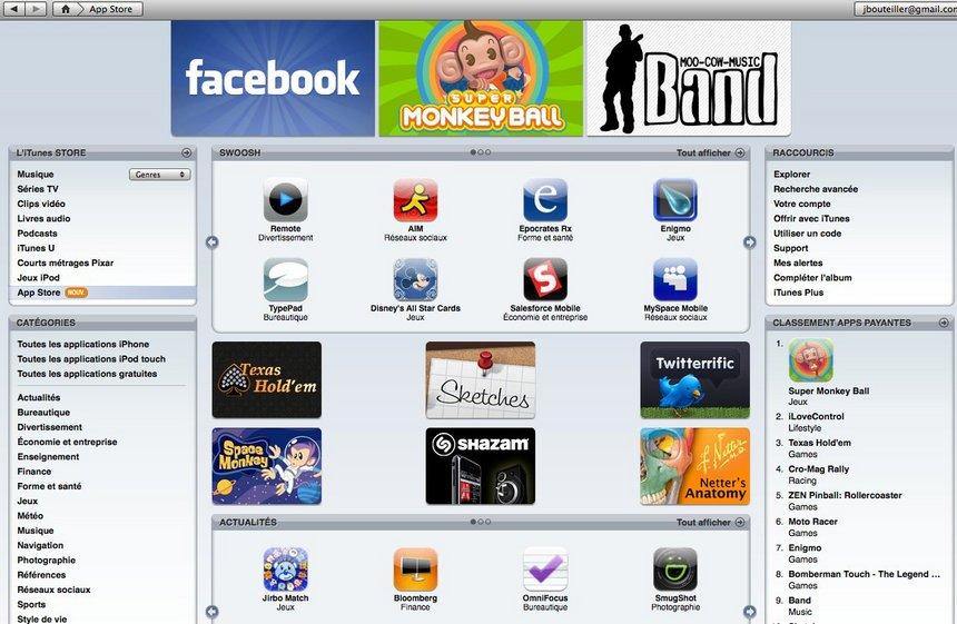500 applications pour l'iPhone