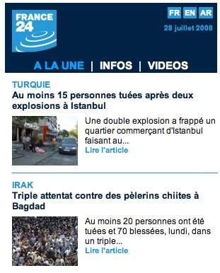 France24 en version iPhone