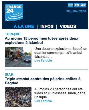France24 en version iPhone